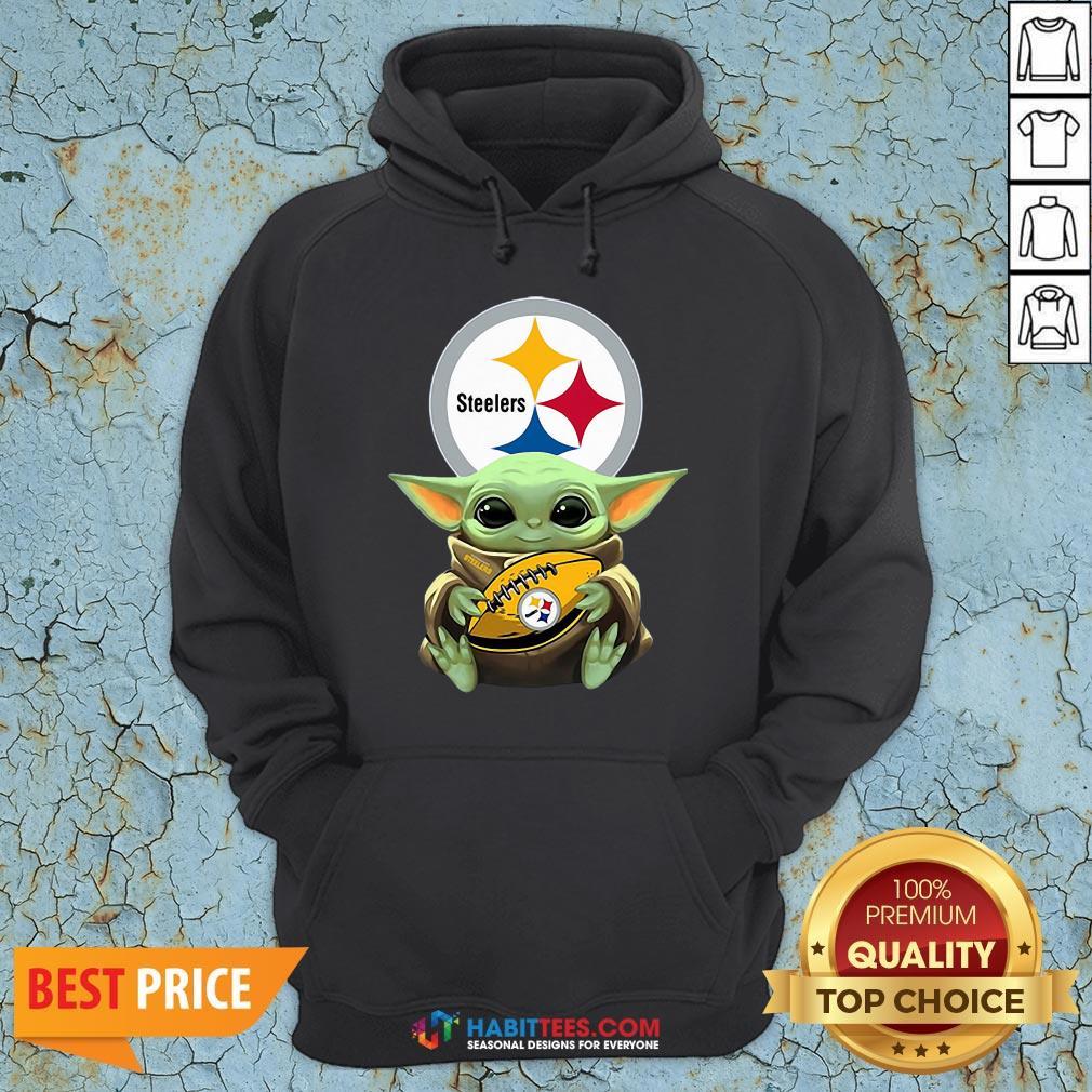 Funny Baby Yoda Hug Rugby Hoodie