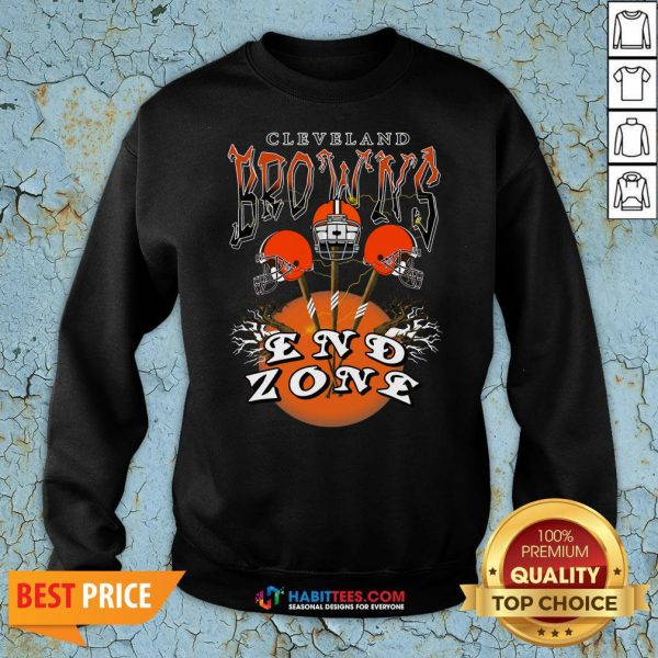 Funny Cleveland Browns End Zone Sweatshirt