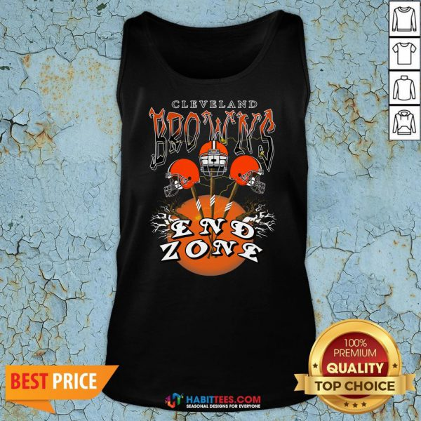 Funny Cleveland Browns End Zone Tank Top