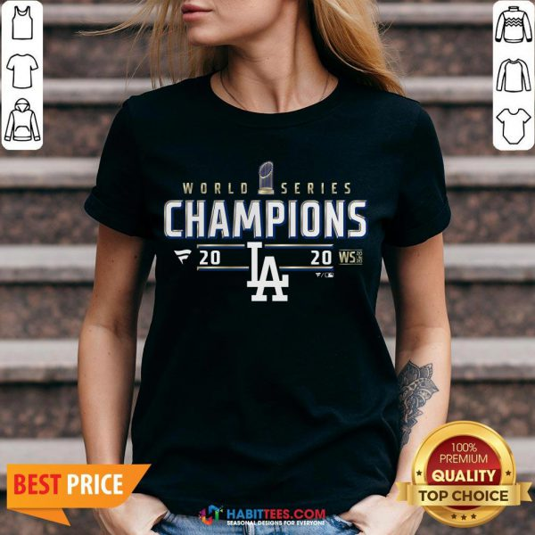 Funny Dodger World Series Champions 2020 V-neck - Design By Habittees.com