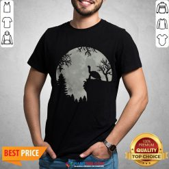 - Design By Habittees.comFunny Howling Turtle The Moon Shirt