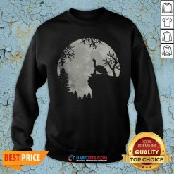Funny Howling Turtle The Moon Sweatshirt - Design By Habittees.com