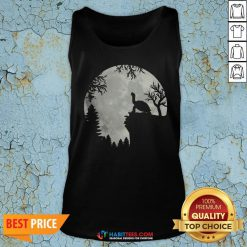 Funny Howling Turtle The Moon Tank Top - Design By Habittees.com