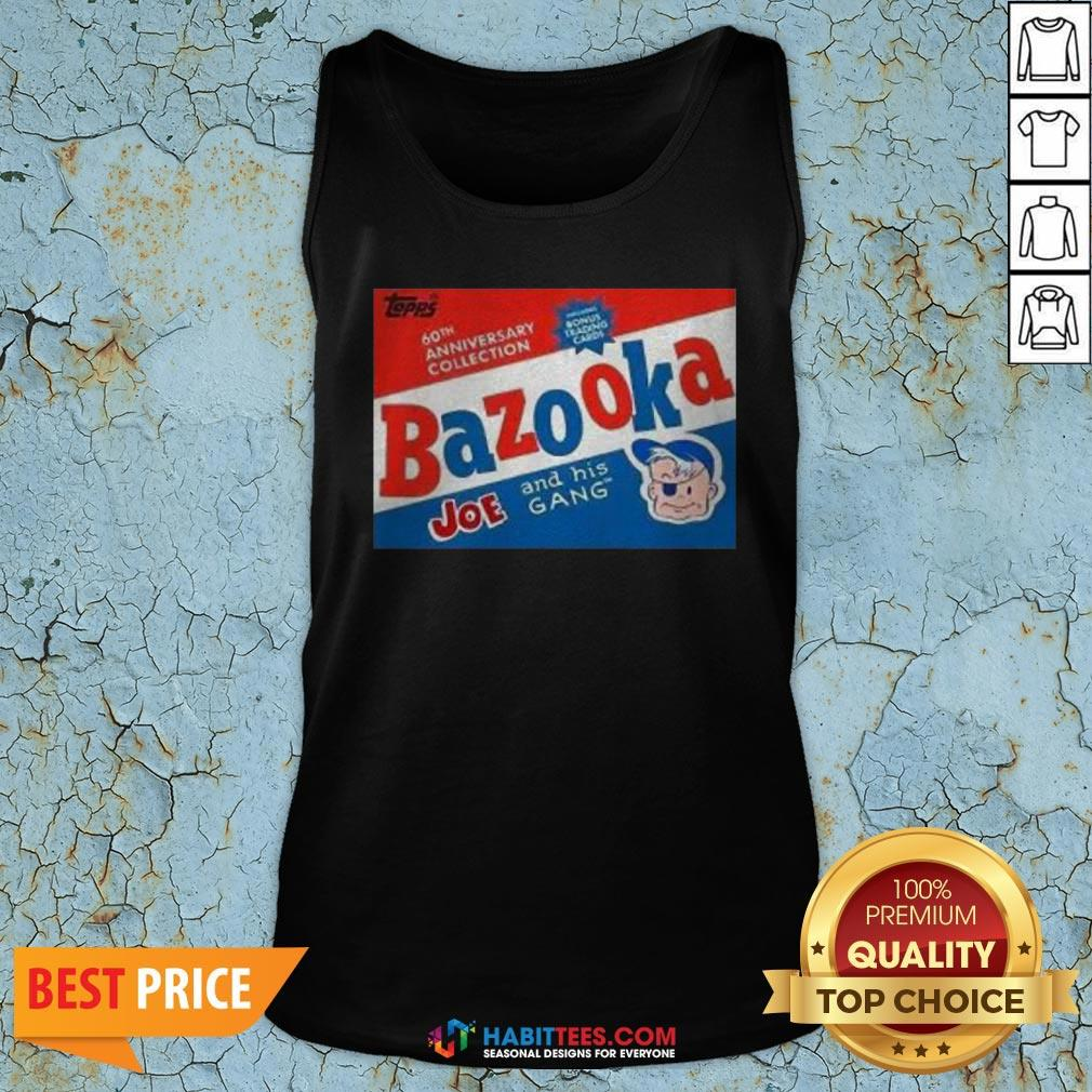 Funny Topps Bazooka Bubble Gum Tank Top - Design By Habittees.com