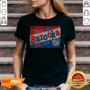 Funny Topps Bazooka Bubble Gum V-neck - Design By Habittees.com