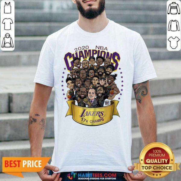 Good 2020 Nba Champions Los Angeles Lakers 17 Champs Cartoon Shirt