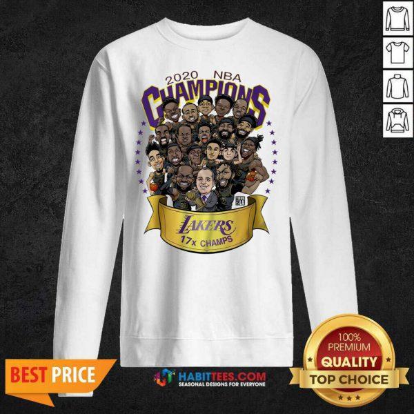 Good 2020 Nba Champions Los Angeles Lakers 17 Champs Cartoon SweatshirtGood 2020 Nba Champions Los Angeles Lakers 17 Champs Cartoon Sweatshirt