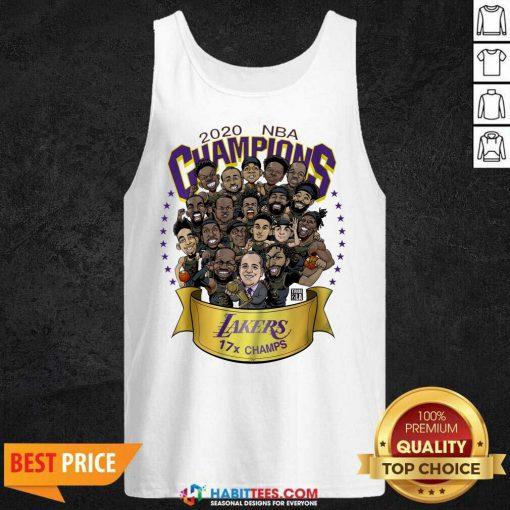 Good 2020 Nba Champions Los Angeles Lakers 17 Champs Cartoon Tank Top