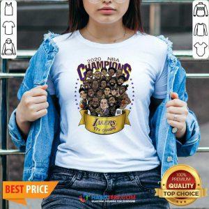 Good 2020 Nba Champions Los Angeles Lakers 17 Champs Cartoon V-neck