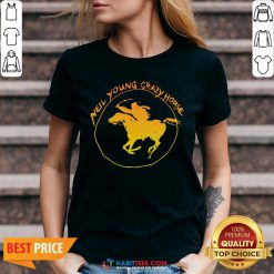 Great Neil Young Crazy Horse V-neck - Design By Habittees.com