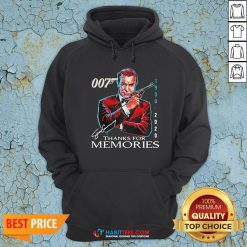 Great Rip Sean Connery 007 1930 2020 Signature Thank You For Memories Hoodie - Design By Habittees.com