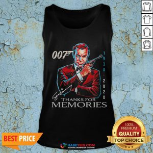 Great Rip Sean Connery 007 1930 2020 Signature Thank You For Memories Tank Top - Design By Habittees.com