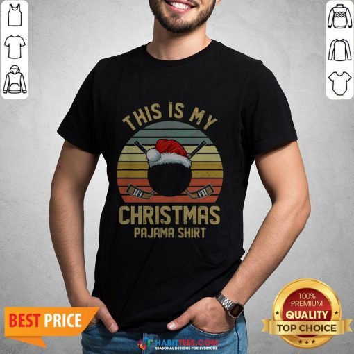 Great This Is My Christmas Hockey Player Vintage Shirt - Design By Habittees.com
