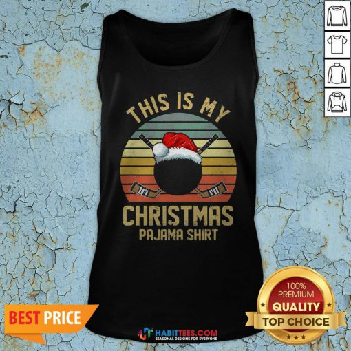Great This Is My Christmas Hockey Player Vintage Tank Top - Design By Habittees.com