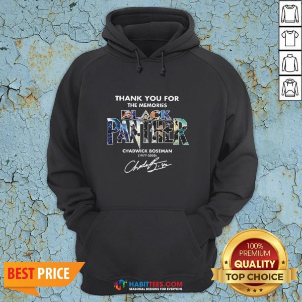 Hot Black Panther Chadwick Boseman 1977 2020 Signature Thank Hoodie - Design By Habittees.com