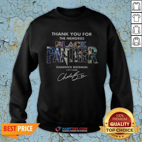 Hot Black Panther Chadwick Boseman 1977 2020 Signature Thank Sweatshirt - Design By Habittees.com