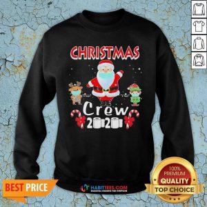 Hot Christmas Crew 2020 Santa Elf And Reindeer Wearing Mask Sweatshirt - Design By Habittees.com