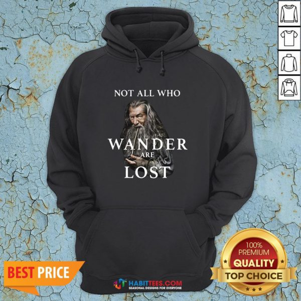 Hot Gandalf Not All Who Wander Are Lost Hoodie - Design By Habittees.com