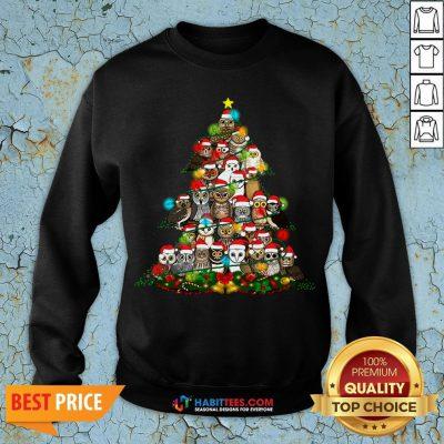 Hot Grateful Owl Quaran Tree Christmas Sweatshirt - Design By Habittees.com