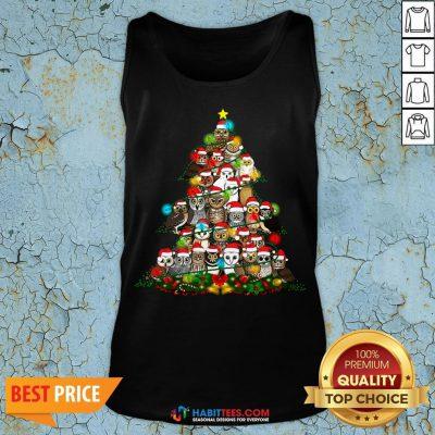 Hot Grateful Owl Quaran Tree Christmas Tank Top - Design By Habittees.com