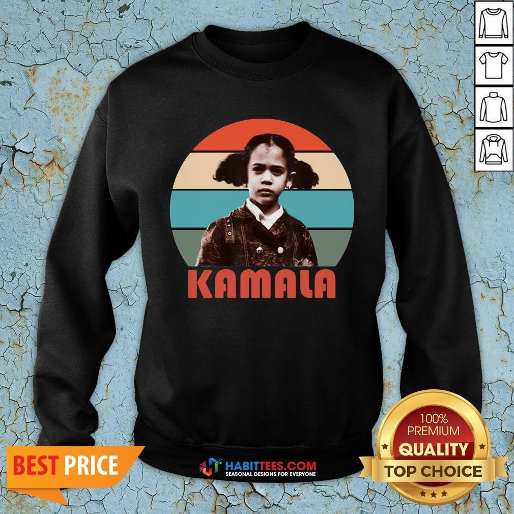 Hot Kamala Harris That Little Girl Retro Vintage Anti Trump Sweatshirt - Design By Habittees.com