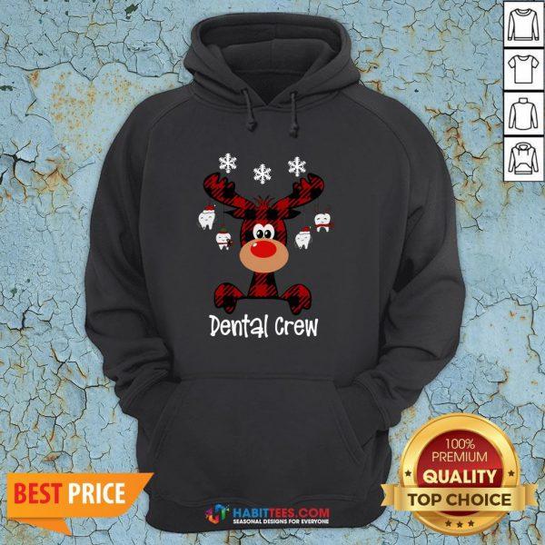 Hot Reindeer Dental Crew Christmas Hoodie - Design By Habittees.com