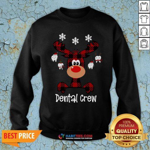 Hot Reindeer Dental Crew Christmas Sweatshirt - Design By Habittees.com