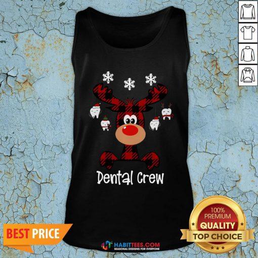 Hot Reindeer Dental Crew Christmas Tank Top - Design By Habittees.com