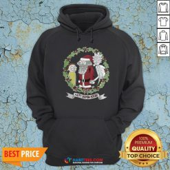 Hot Rick And Morty And Santa Claus Happy Human Holiday 2020 Hoodie - Design By Habittees.com