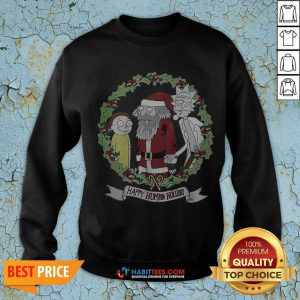 Hot Rick And Morty And Santa Claus Happy Human Holiday 2020 Sweatshirt - Design By Habittees.com