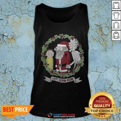 Hot Rick And Morty And Santa Claus Happy Human Holiday 2020 Tank Top - Design By Habittees.com