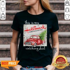 Hot This Is My Hallmark Christmas Movies Watching Sweat V-neck - Design By Habittees.com