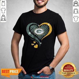Love Green Bay Packers Heart Shirt - Design By Habittees.com