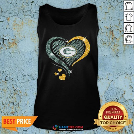 Love Green Bay Packers Heart Tank Top - Design By Habittees.com