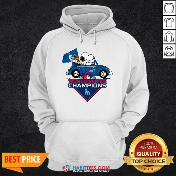 Love Snoopy And Woodstock Los Angeles Dodgers World Series Champions Hoodie - Design By Habittees.com