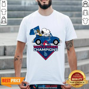 Love Snoopy And Woodstock Los Angeles Dodgers World Series Champions Shirt - Design By Habittees.com