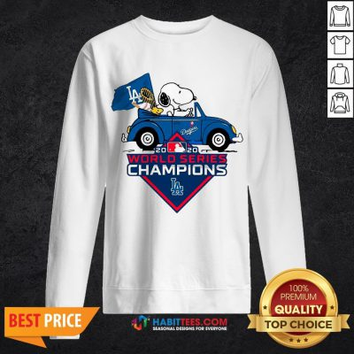 Love Snoopy And Woodstock Los Angeles Dodgers World Series Champions Sweatshirt - Design By Habittees.com
