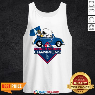 Love Snoopy And Woodstock Los Angeles Dodgers World Series Champions Tank Top - Design By Habittees.com