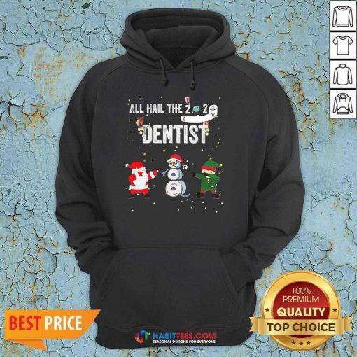 Nice All Hail The 2020 Dentist Dabbing Santa Elf Xmas Toilet Roll Hoodie