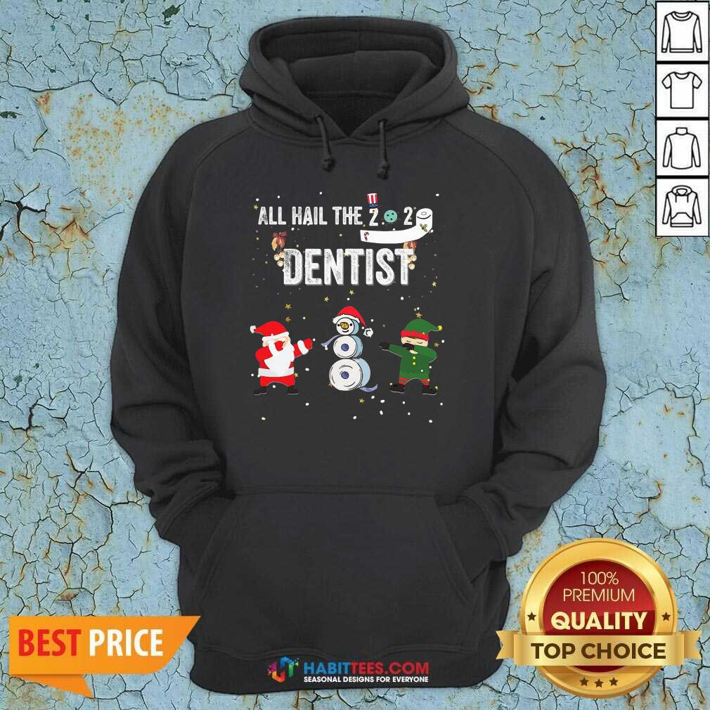 Nice All Hail The 2020 Dentist Dabbing Santa Elf Xmas Toilet Roll Hoodie
