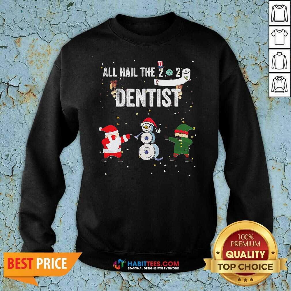 Nice All Hail The 2020 Dentist Dabbing Santa Elf Xmas Toilet Roll Sweatshirt