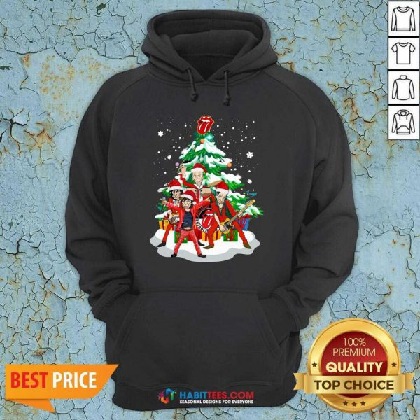 Nice Anta The Rolling Stones Playing Music Merry Christmas 2020 Hoodie