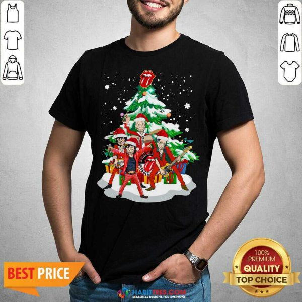 Nice Anta The Rolling Stones Playing Music Merry Christmas 2020 Shirt