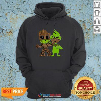 Nice Baby Grinch And Groot Best Friend Hoodie- Design By Habittees.com