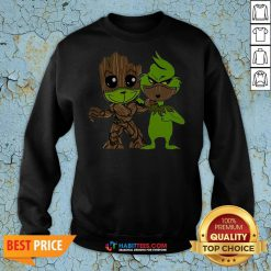 Nice Baby Grinch And Groot Best Friend Sweatshirt - Design By Habittees.com