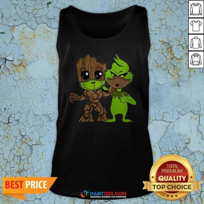 Nice Baby Grinch And Groot Best Friend Tank Top - Design By Habittees.com