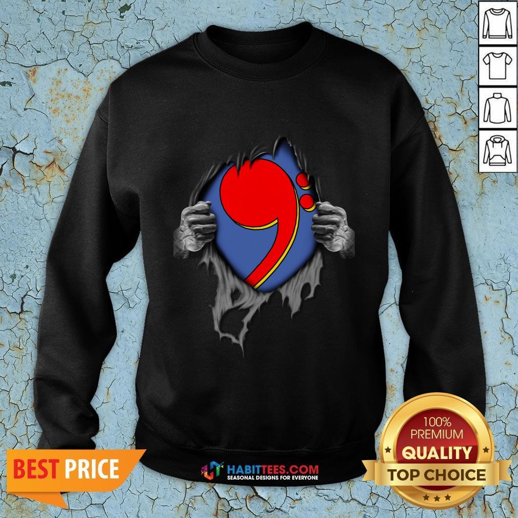 Nice Blood Inside Me Comma La Kamala Harris Biden Harris Sweatshirt - Design By Habittees.com