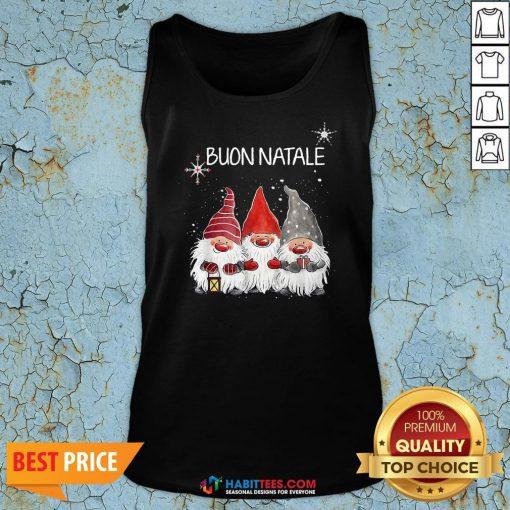 Nice Buon Natale Gnomes Christmas Tank Top