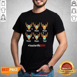 Nice Christmas Teacher 2020 Life Reindeer Deer Wearing Mask Shirt - Design By Habittees.com