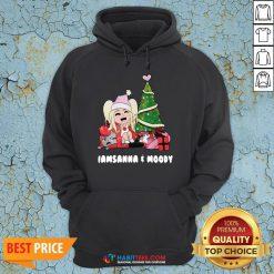 Nice Girl And Gift Under Christmas Tree I Am Sanna Moody Hoodie